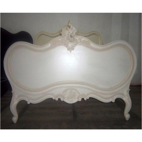 French Rococo White Queen Size Bed J50402-WHU