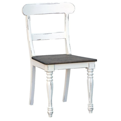 Shabby Chic White Distressed Wood Chair JS2021-WH