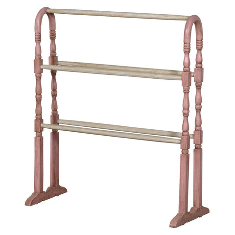 Isabella Arch Pink and White Free Standing Towel Rail JS2082-PIWH