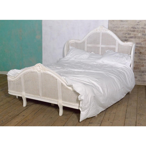 Astonia Antique Shabby Chic King Size Bed White JS2111-160-AW