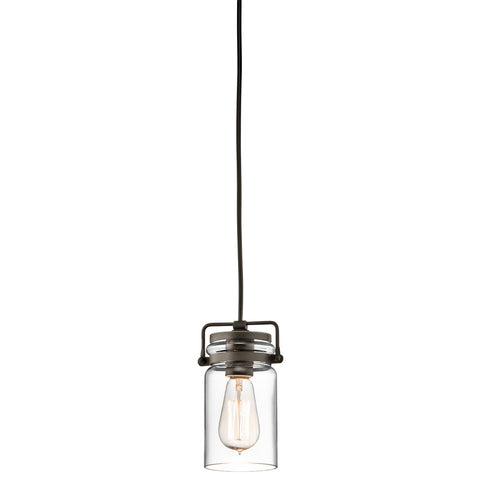 Kichler Brinley 1 Light Olde Bronze Mini Pendant Light KL/BRINLEY/MP