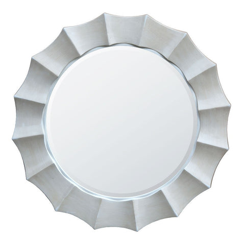 Antique White Sunburst Round Mirror MIR-003-AW