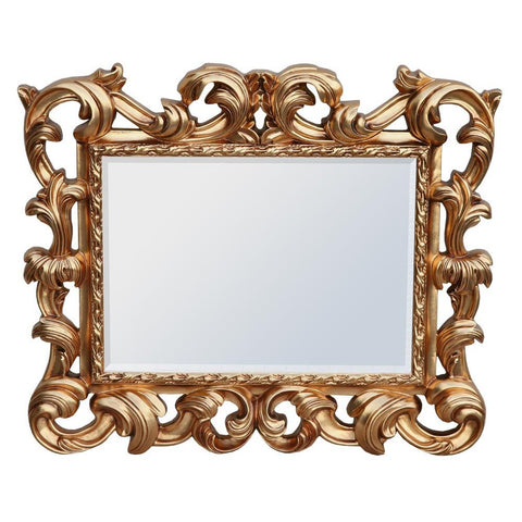 Baroque Gloss Gold Overmantle Mirror MIW-014-GO