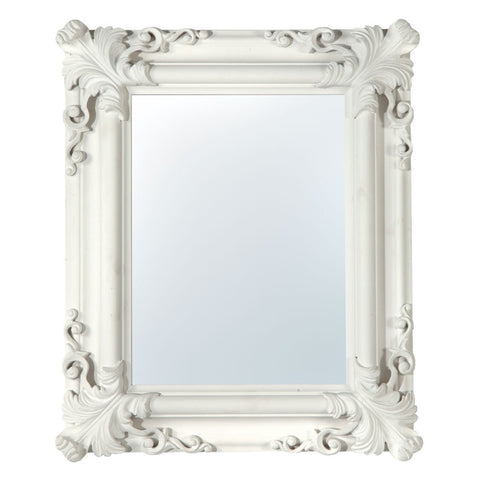 White Leaf Frame Mirror MIW-016-WH