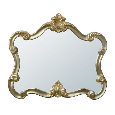 Mireille Landscape Distressed Gold Overmantle Mirror MIW-022-GO