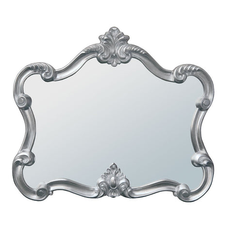Mireille Landscape Distressed Silver Overmantle Mirror MIW-022-SL