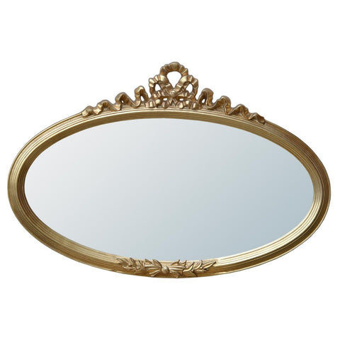 Landscape Overmantle Oval Gold Ribbon Mirror MIW-046-GO