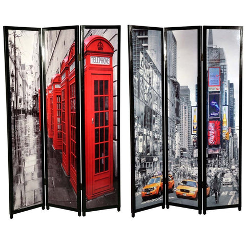 Modern Room Divider / Screen London & New York City Scape PC29000