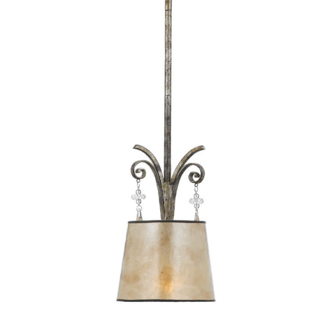 Quoizel Kendra 1 Light Mottled Silver Pendant Light QZ/KENDRA/P/A