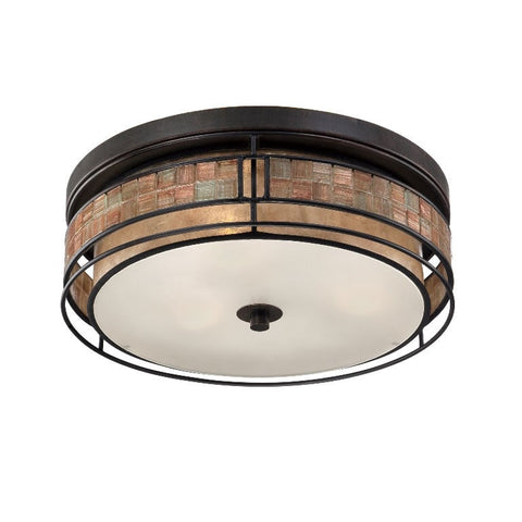 Quoizel Laguna 3 Light Renaissance Copper Ceiling Light QZ/LAGUNA/F/L