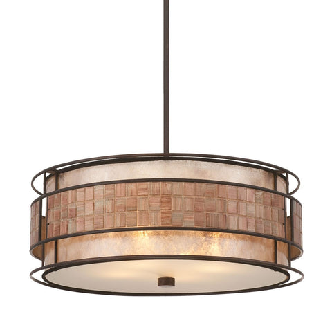 Quoizel Laguna 4 Light Renaissance Copper Pendant Light QZ/LAGUNA/P