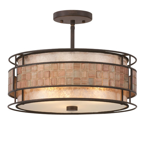 Quoizel Laguna Renaissance Copper Semi Flush Light QZ/LAGUNA/SF
