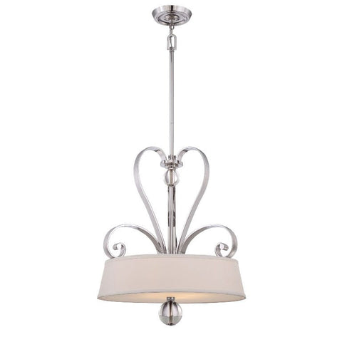 Quoizel Madison Manor 4 Light Imperial Silver Pendant QZ/MADISONM/P IS