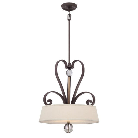 Quoizel Madison Manor 4 Light Western Bronze Pendant QZ/MADISONM/P WT