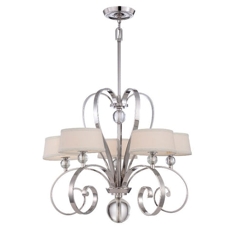Quoizel Madison Manor 5 Light Silver Chandelier QZ/MADISONM5 IS