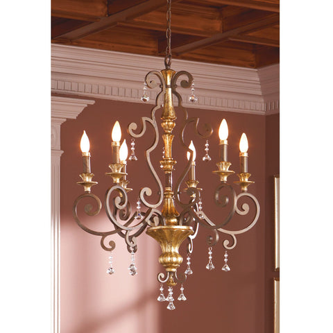 Quoizel Marquette 6 Light Heirloom Candle Chandelier QZ/MARQUETTE6/A