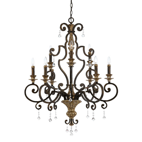 Quoizel Marquette 9 Light Heirloom Candle Chandelier QZ/MARQUETTE9