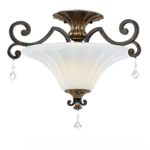Quoizel Marquette Heirloom Semi Flush Ceiling Light QZ/MARQUETTE/SF