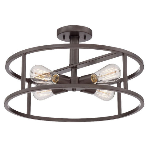 Quoizel New Harbor 4 Light Western Bronze Ceiling Light QZ/NEWHARBOR/SF