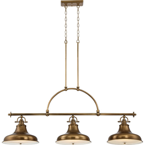 Quoizel Emery 1 Light Weathered Brass Pendant Light QZ/EMERY/P/M WS