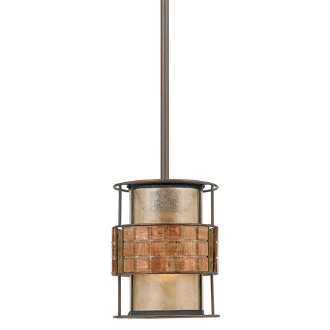 Quoizel Laguna 1 Light Renaissance Copper Mini Pendant Light QZ/LAGUNA/MP
