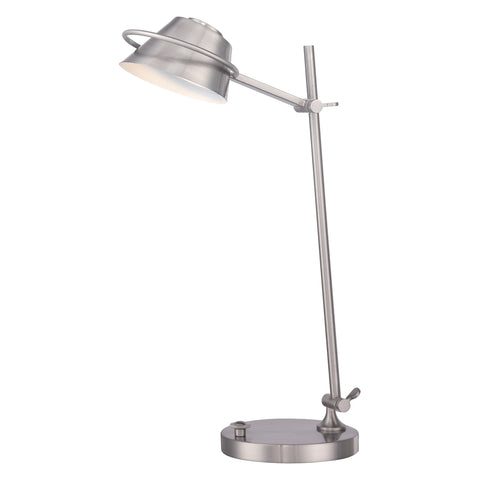 Quoizel Spencer 1 Light Brushed Nickel Table Lamp QZ/SPENCER/TL BN