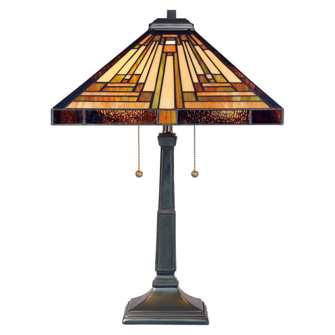 Quoizel Stephen 2 Light Vintage Bronze Table Lamp QZ/STEPHEN/TL