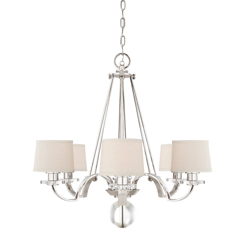 Quoizel Sutton Place 6 Light Imperial Silver Chandelier QZ/SUTTON PL6