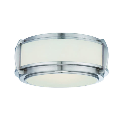 Quoizel Wilkinson 3 Light Brushed Nickel Flush Ceiling Light QZ/WILKINSON/F