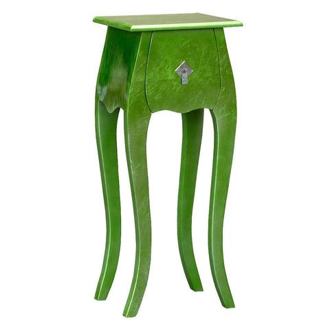 Glossy Green Lacquered French Style High Gloss Bedside Cabinet Table R1-0092
