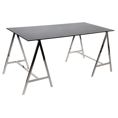 A-Frame Black Glass Table R1-0708-BL