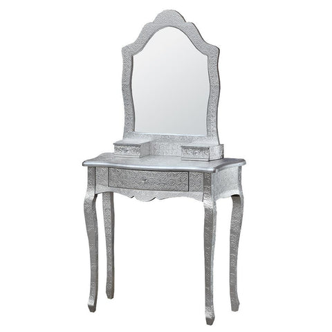 Chaandhi Kar Silver Embossed Dressing Table with Mirror R10-8021-301