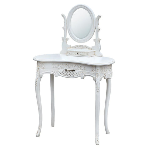 Antique White Dressing Table with Mirror RG-303-AW