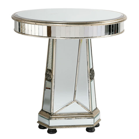 Mirrored Vintage Venezia Furniture - Vintage Venezia Antique Silver Wooden Table
