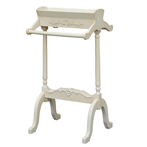 White Painted Free Standing French Style Wood Towel Rail TF10003