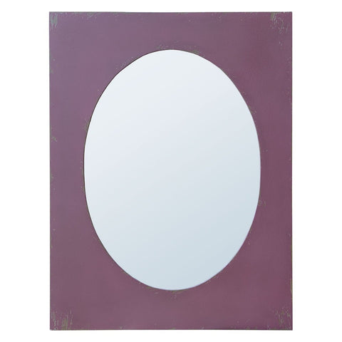 Distressed Mauve Frame Oval Mirror TFM-1008