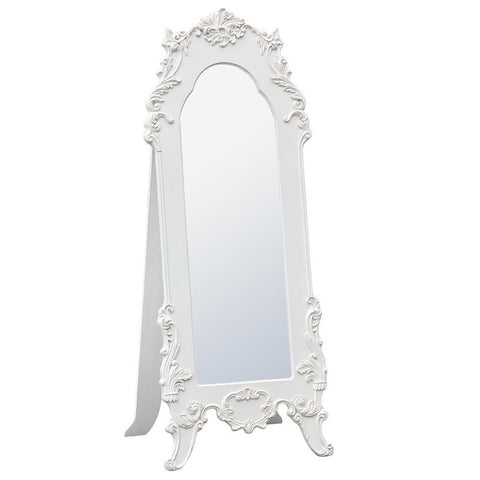 Boudoir Provence Antique White Floor Standing Mirror TFM8027-AW