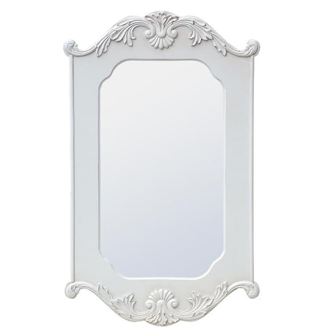 Antique White Crown Mirror TFM9819-AW-50-80