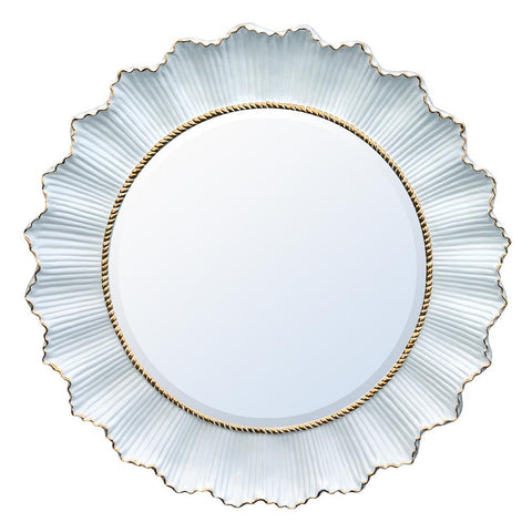 White and Gold Sunburst Mirror TS1831-GOWHX-50-50
