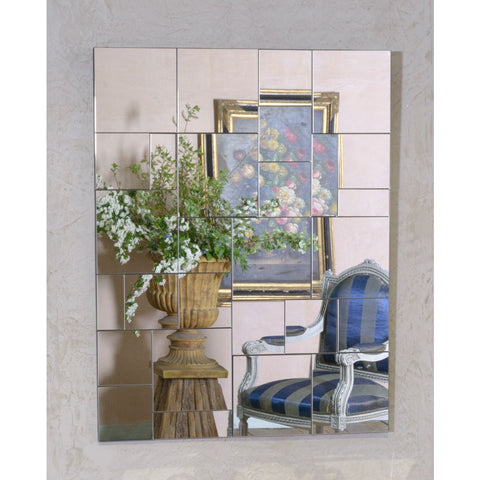 Contemporary Multi Faceted Venetian Tessellated Mirror VM418