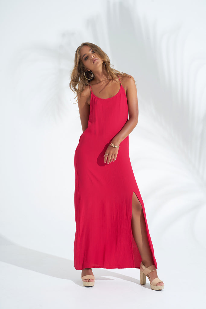 Dress Stevie Maxi - Rose Red