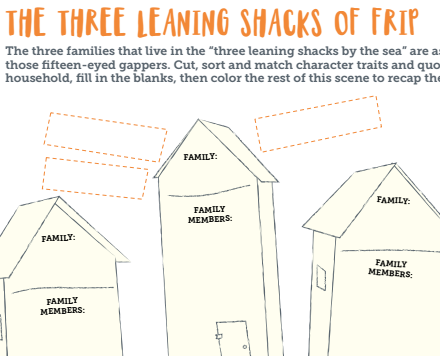 Gappers of Frip: Three Leaning Shacks Activity