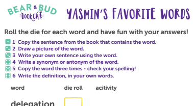 Book Uncle Vocab Game: Roll-the-Dice