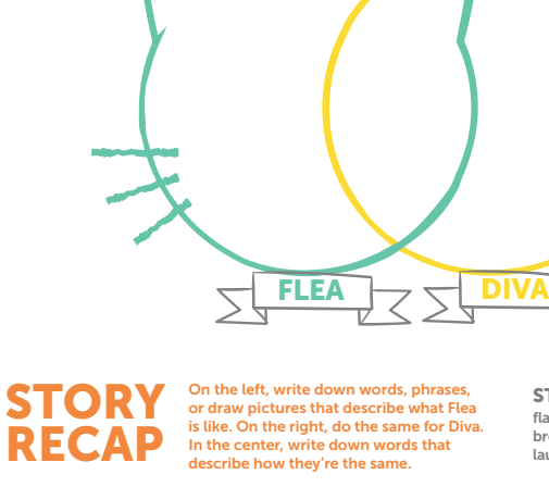Diva & Flea: Venn Diagram Story Recap Activity