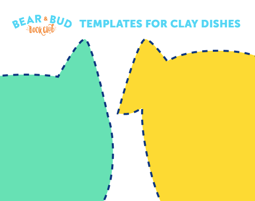 Diva & Flea: Dog and Cat Clay Dish Template