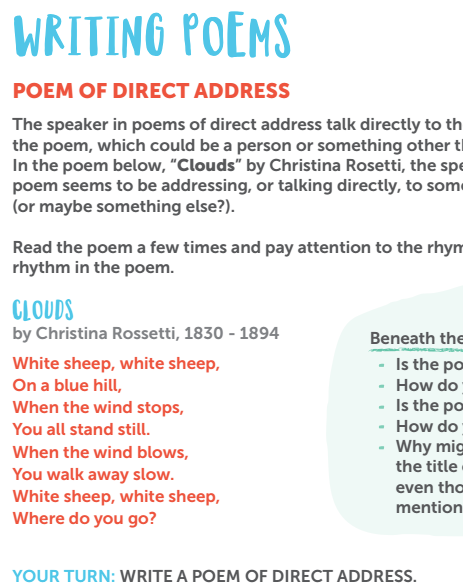 Gone Camping: Poetry Writing Activities