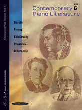 Contemporary Piano Literature, Book 6 00-037200   upc 654979050926