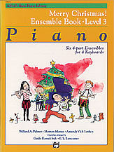 Alfred's Basic Piano Course: Merry Christmas! Ensemble, Book 3 00-14503   upc 038081117928