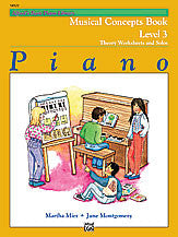 Alfred's Basic Piano Course: Musical Concepts Book 3 00-14522   upc 038081133362