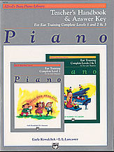 Alfred's Basic Piano Course: Ear Training Teacher's Handbook and Answer Key Complete 1-3 00-14536   upc 038081139883